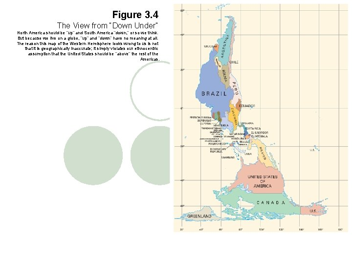 """Figure 3. 4 The View from """"Down Under"""" North America should be """"up"""" and"""