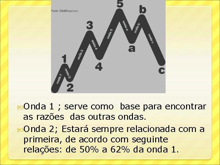 Onda 1 ; serve como base para encontrar as razões das outras ondas.