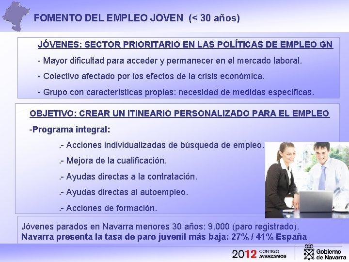 Itinerario Para El Empleo Joven En Navarra Fomento