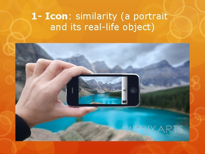 1 - Icon: similarity (a portrait and its real-life object)
