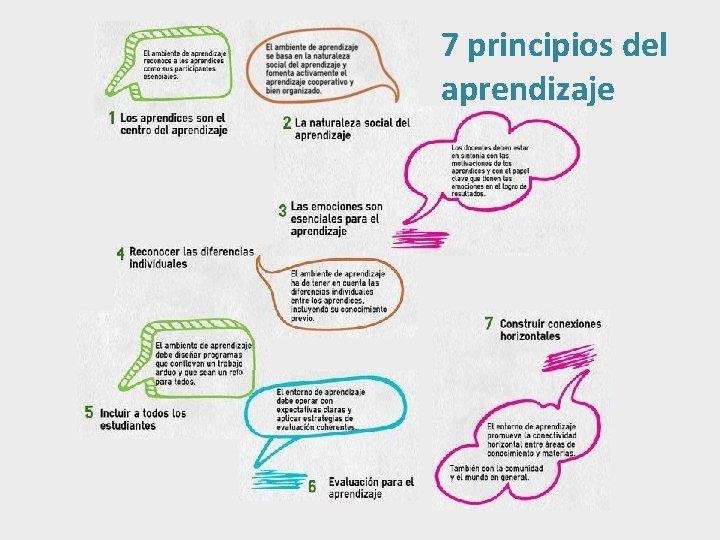 7 principios del aprendizaje