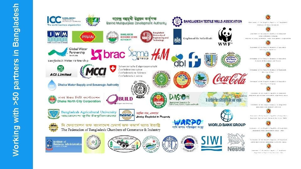 Working with >50 partners in Bangladesh