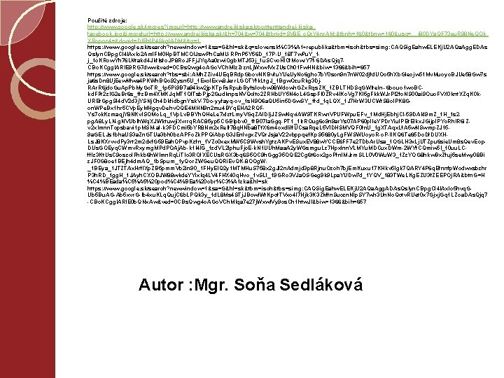 Použité zdroje: http: //www. google. sk/imgres? imgurl=http: //www. andrejkiska. sk/content/andrej-kiskafacebook. jpg&imgrefurl=http: //www. andrejkiska. sk/&h=704&w=704&tbnid=SV