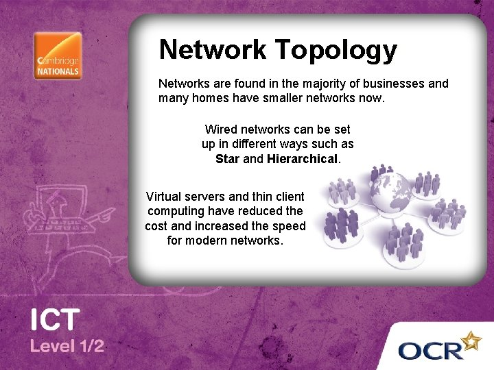 Network Topology Networks are found in the majority of businesses and many homes have