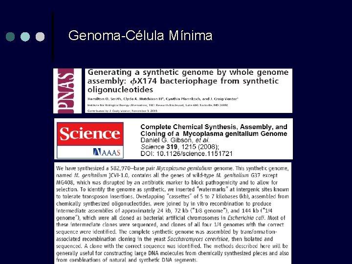 Genoma-Célula Mínima