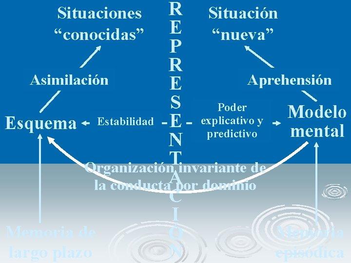 """R Situación E """"nueva"""" P R Asimilación Aprehensión E S Poder Modelo explicativo y"""