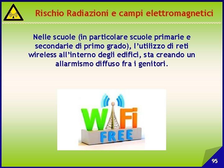 Rischio Radiazioni e campi elettromagnetici Nelle scuole (in particolare scuole primarie e secondarie di