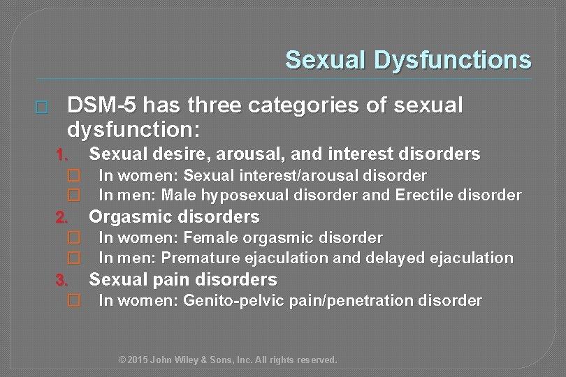 Sexual arousal difficulties in men