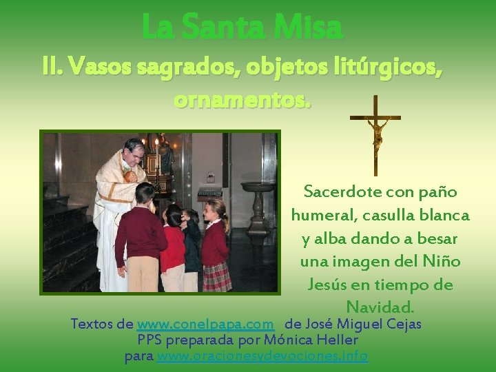 La Santa Misa Ii Vasos Sagrados Objetos Litrgicos