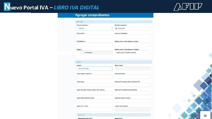 Nuevo Portal IVA – LIBRO IVA DIGITAL 19