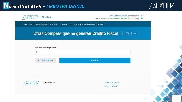 Nuevo Portal IVA – LIBRO IVA DIGITAL 23