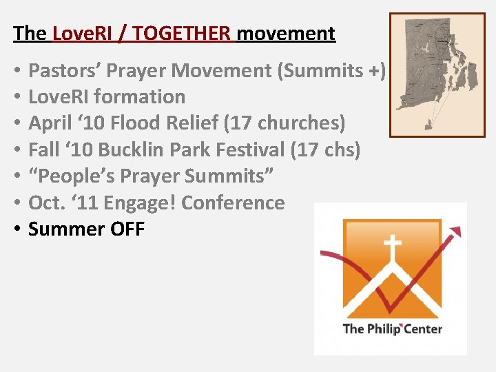 The Love. RI / TOGETHER movement • • Pastors' Prayer Movement (Summits +) Love.