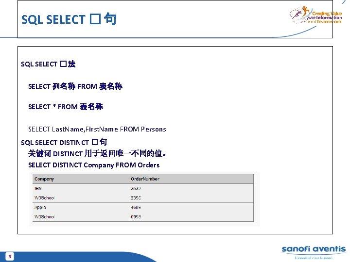SQL SELECT � 句 SQL SELECT � 法 SELECT 列名称 FROM 表名称 SELECT *