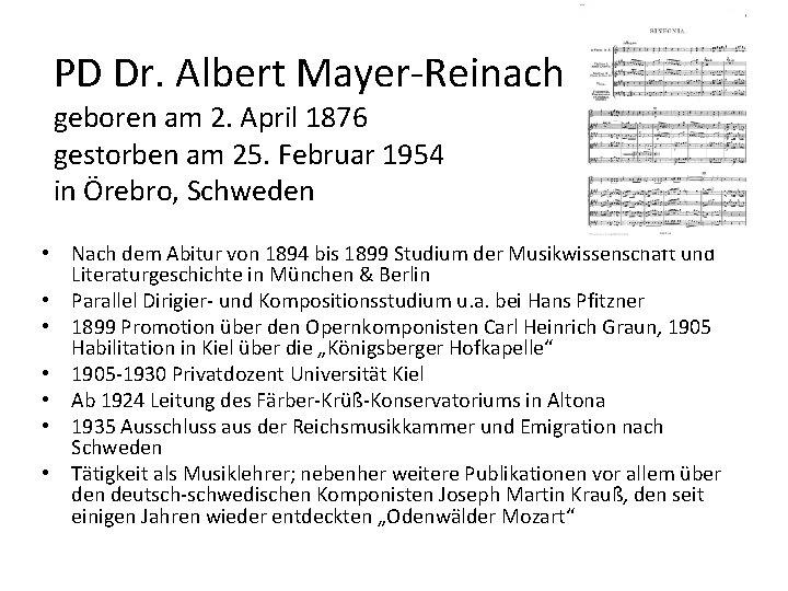 PD Dr. Albert Mayer-Reinach geboren am 2. April 1876 gestorben am 25. Februar 1954