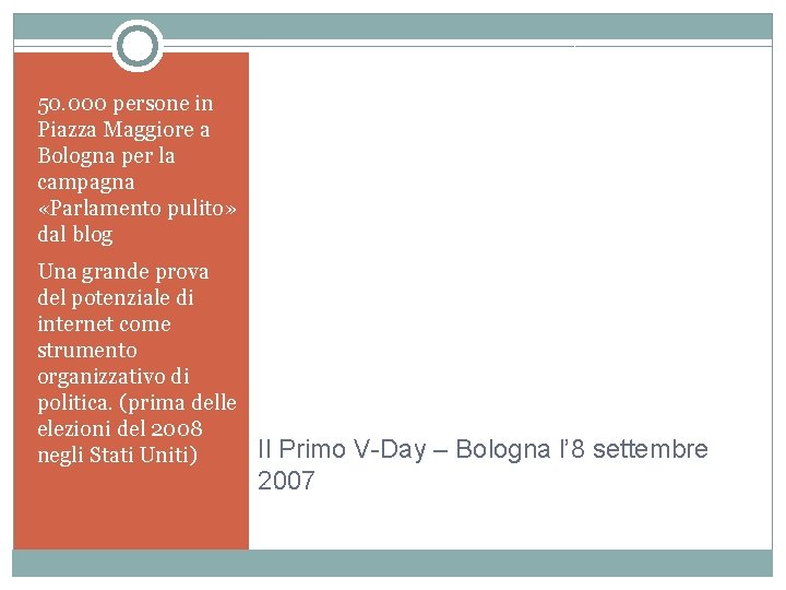 50. 000 persone in Piazza Maggiore a Bologna per la campagna «Parlamento pulito» dal