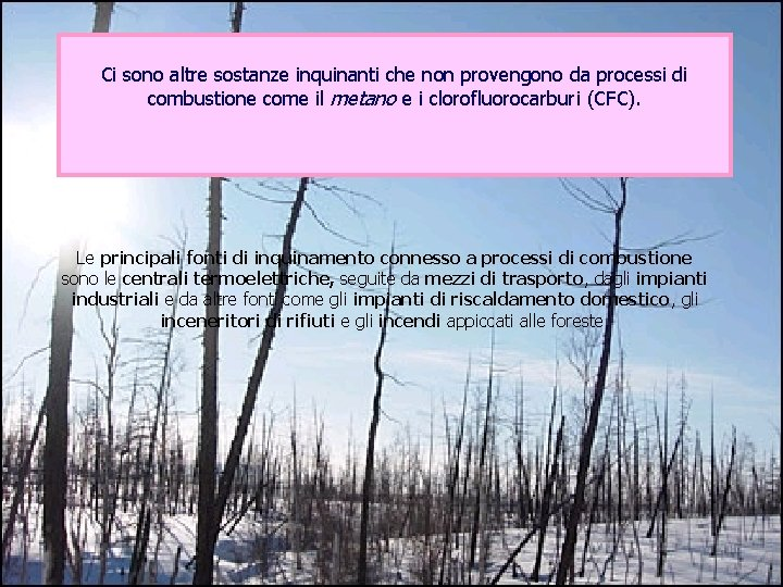 Ci sono altre sostanze inquinanti che non provengono da processi di combustione come il