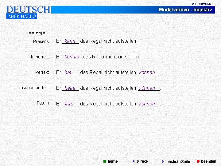 Deutsch Lernen Die Modalverben Prasens Prateritum