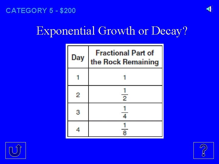 CATEGORY 5 - $200 Exponential Growth or Decay?