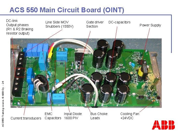 ACS 550 Main Circuit Board (OINT) ACS 550 Training course. © ABB Oy. -