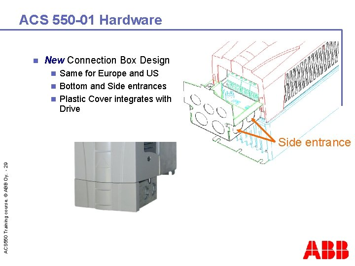 ACS 550 -01 Hardware n New Connection Box Design Same for Europe and US