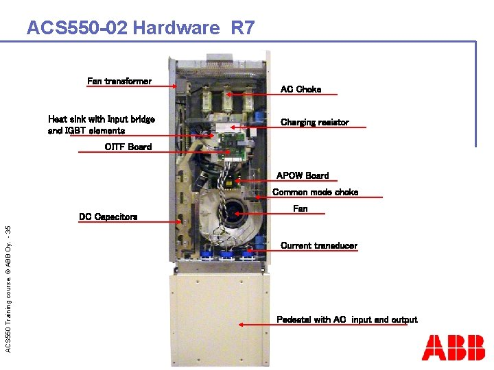 ACS 550 -02 Hardware R 7 Fan transformer Heat sink with Input bridge and