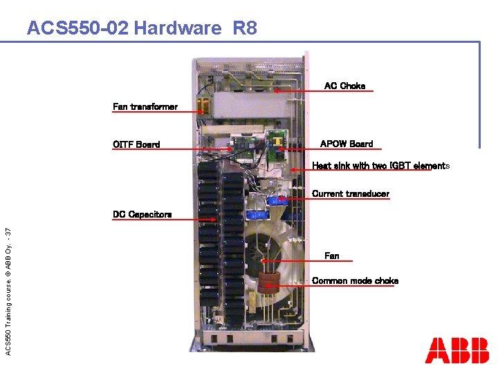 ACS 550 -02 Hardware R 8 AC Choke Fan transformer OITF Board APOW Board