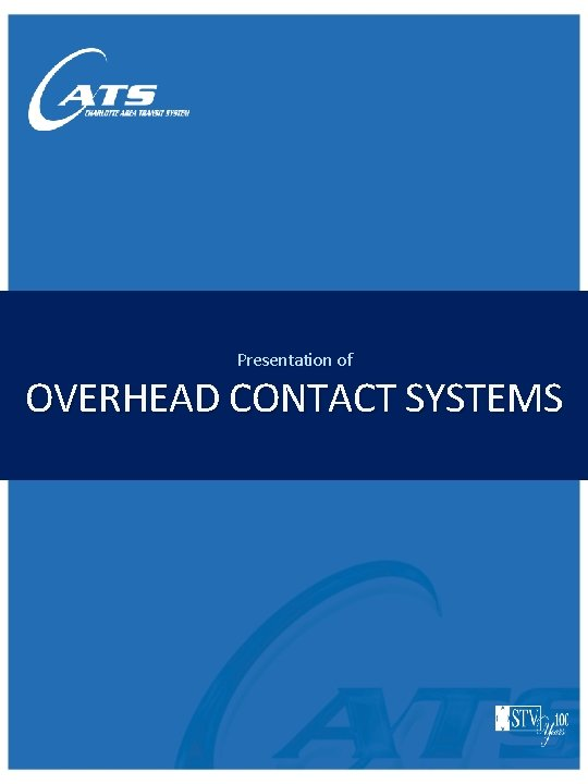 Presentation of OVERHEAD CONTACT SYSTEMS
