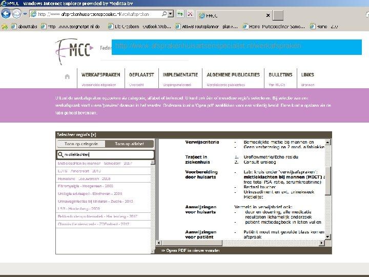 http: //www. afsprakenhuisartsenspecialist. nl/werkafspraken