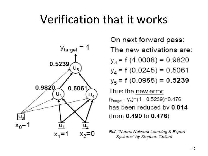 Verification that it works 42
