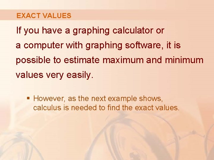 EXACT VALUES If you have a graphing calculator or a computer with graphing software,