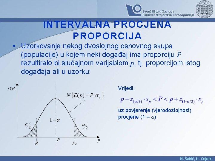 INTERVALNA PROCJENA PROPORCIJA • Uzorkovanje nekog dvoslojnog osnovnog skupa (populacije) u kojem neki događaj
