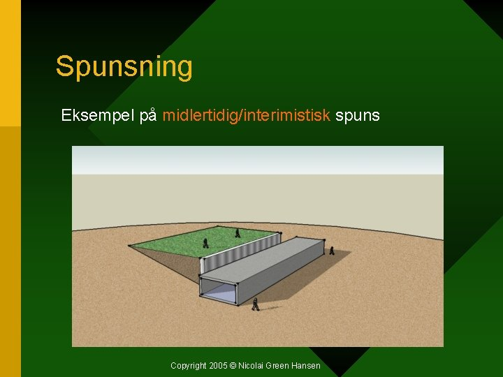Spunsning Eksempel på midlertidig/interimistisk spuns Copyright 2005 © Nicolai Green Hansen