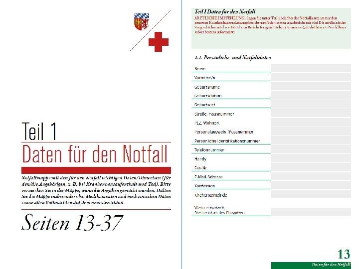 Notfalldaten Notfall Mappe Von Inhalt Pdf Free Download 3 4