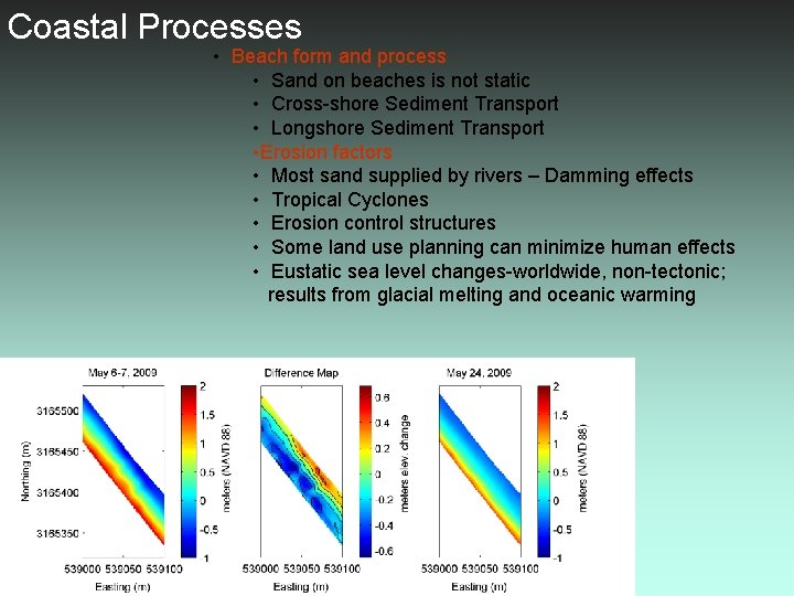 Coastal Processes • Beach form and process • Sand on beaches is not static