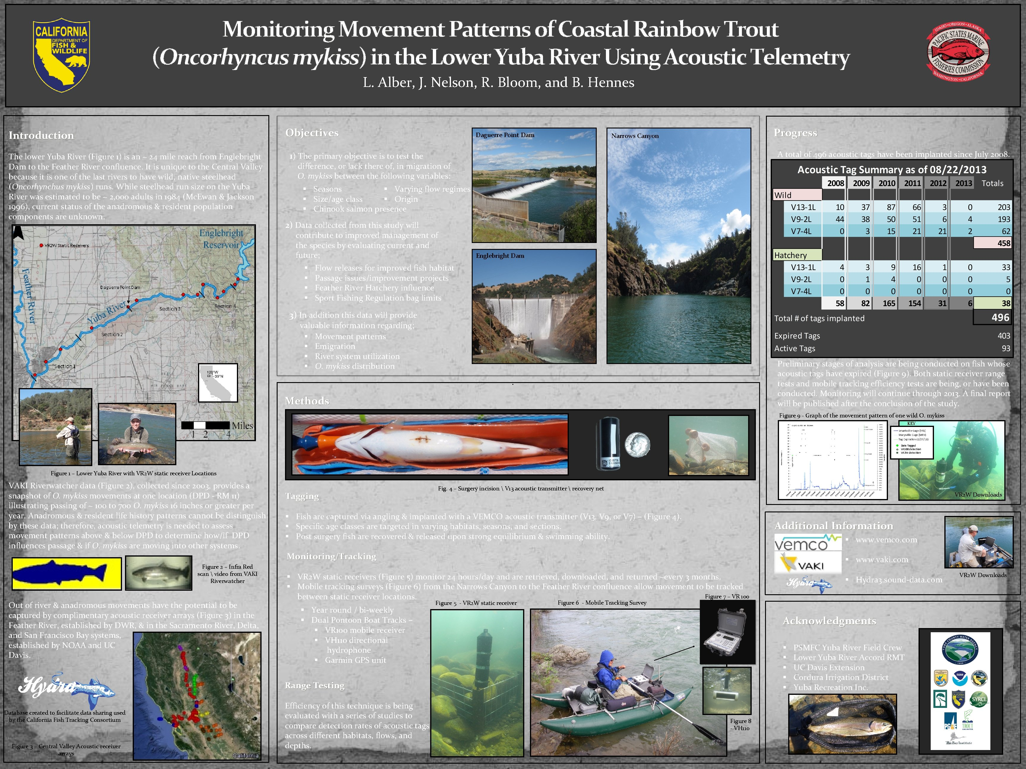 Monitoring Movement Patterns of Coastal Rainbow Trout (Oncorhyncus mykiss) in the Lower Yuba River