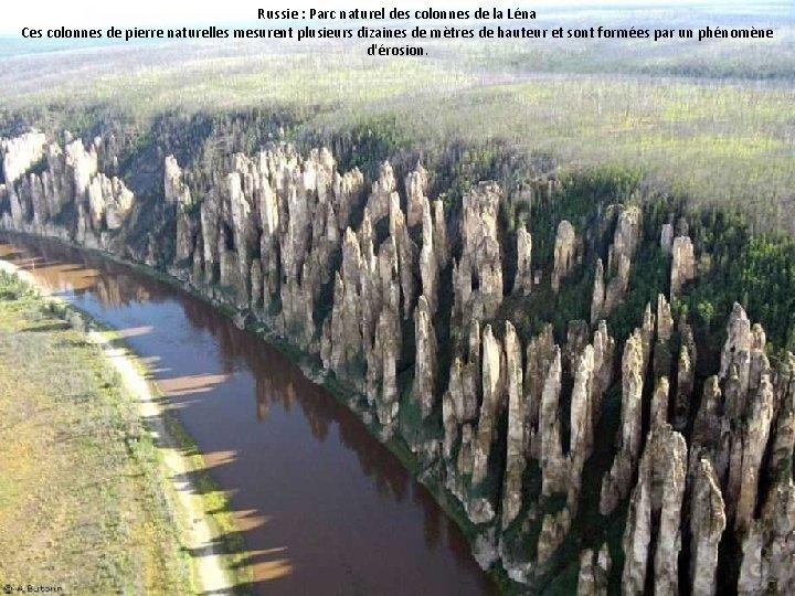 Russie : Parc naturel des colonnes de la Léna Ces colonnes de pierre naturelles