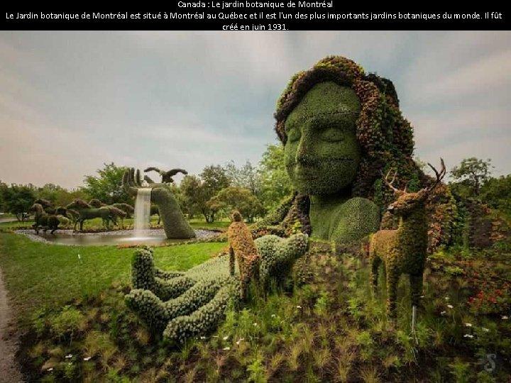 Canada : Le jardin botanique de Montréal Le Jardin botanique de Montréal est situé