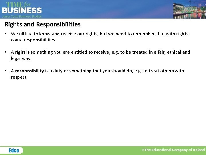 Responsibilities respect rights Rights &