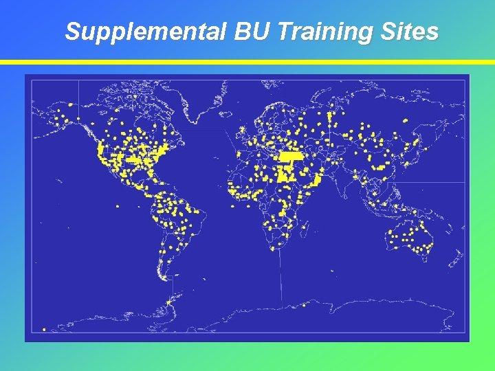 Supplemental BU Training Sites