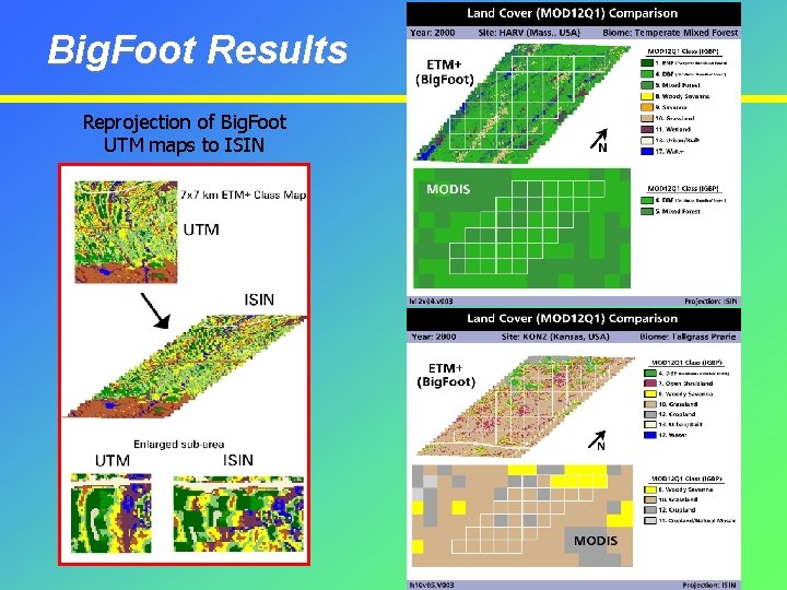 Big. Foot Results Reprojection of Big. Foot UTM maps to ISIN