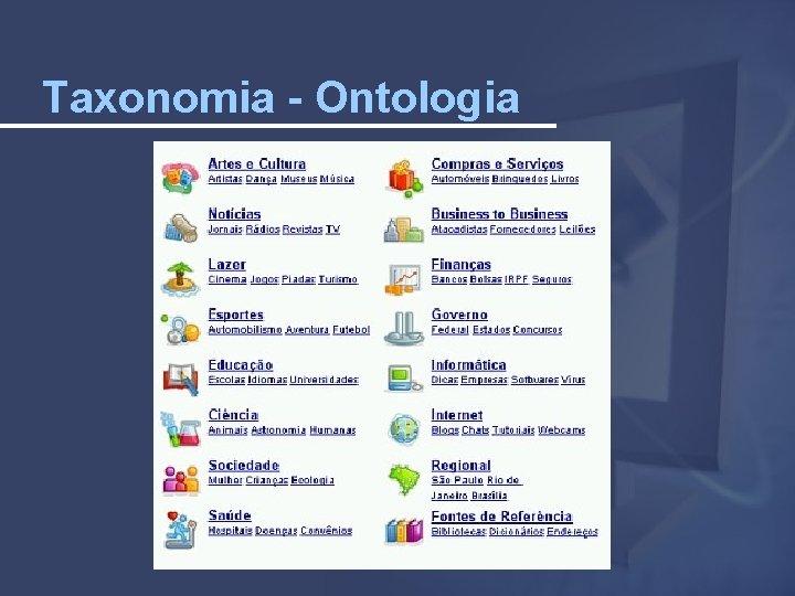Taxonomia - Ontologia