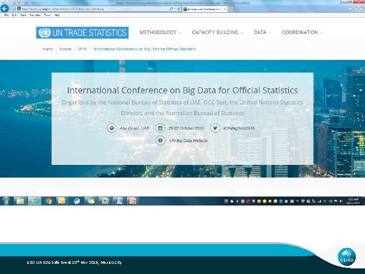 GEO UN SDG Side Event 10 th Nov 2015, Mexico City