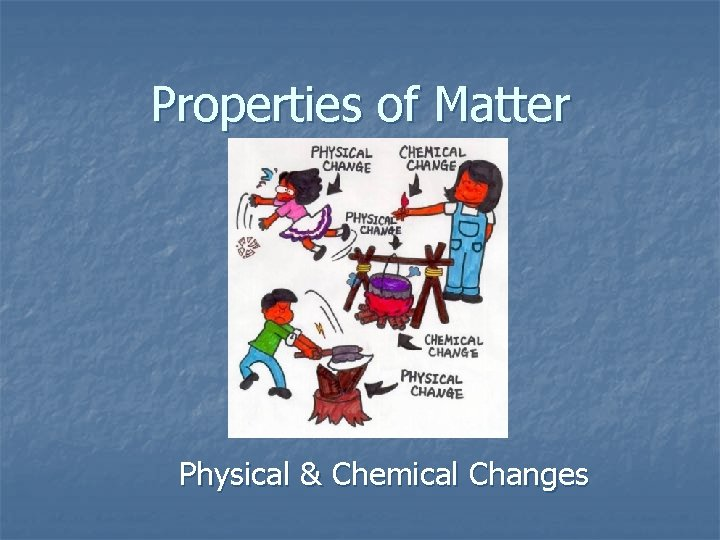 Properties of Matter Physical & Chemical Changes