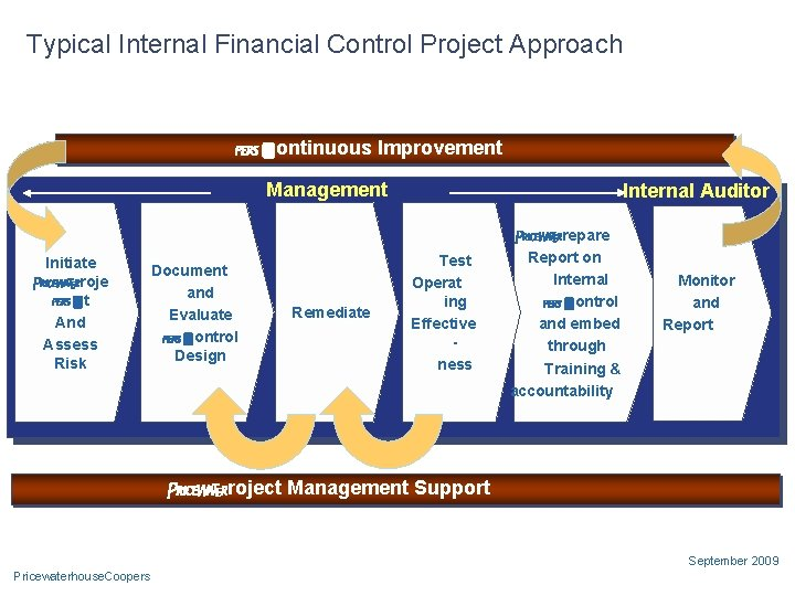 Typical Internal Financial Control Project Approach Continuous Improvement Management Initiate Proje ct And Assess