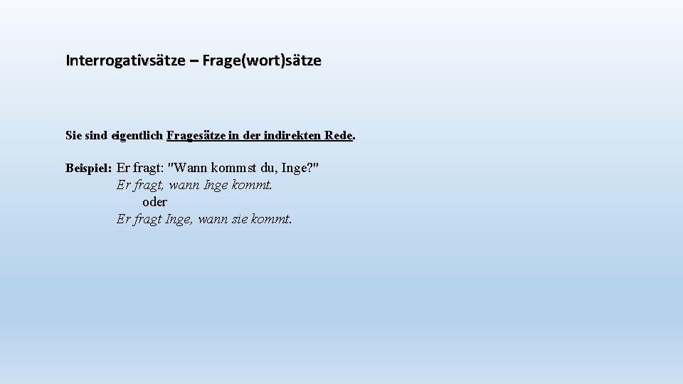 Satzarten 8