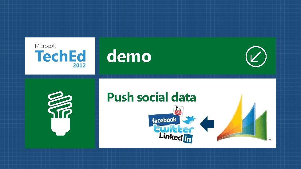 demo Push social data