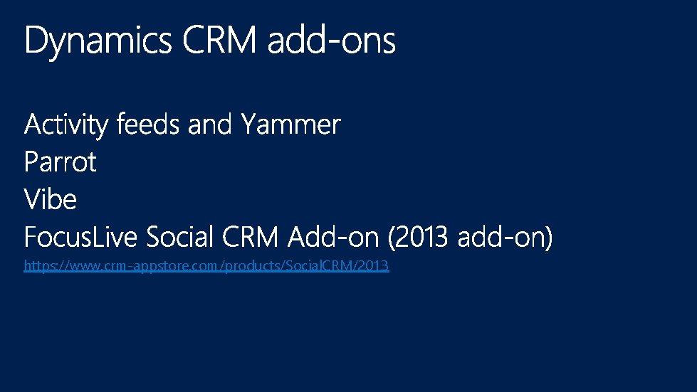 https: //www. crm-appstore. com/products/Social. CRM/2013