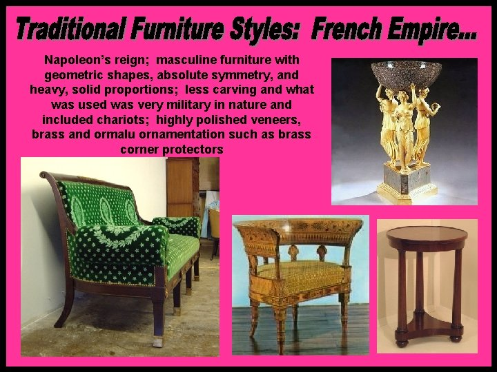 Familiarize Yourself With Certain Names, Empire Furniture For Less