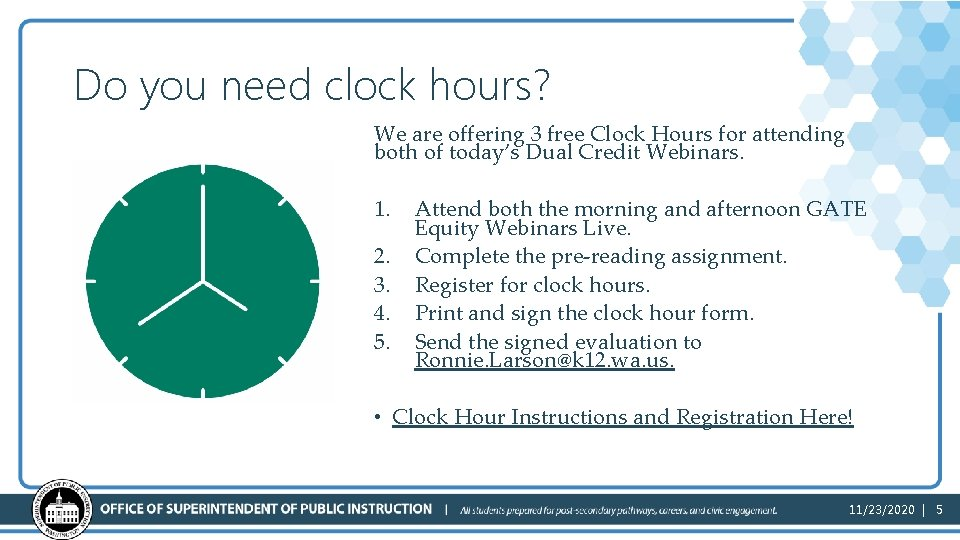 Do you need clock hours? We are offering 3 free Clock Hours for attending