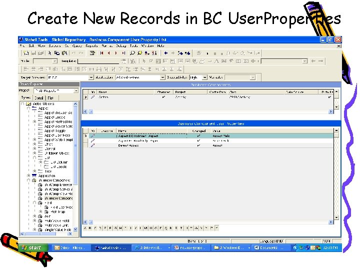 Create New Records in BC User. Properties